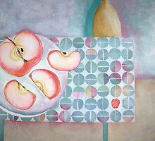gala apples with tablecloth by sue mochrie