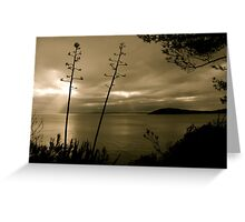There's no sun up in the sky Greeting Card