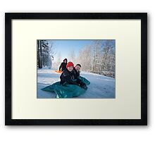 Snow urchins Framed Print
