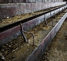 Abandoned theatre steps - architectual abstract by dirkercken