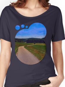 Yet another boring hiking trail picture | landscape photography Women's Relaxed Fit T-Shirt