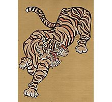 Tiger in Asian Style Photographic Print