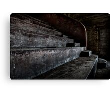 Abandoned theatre steps - architectual heritage Canvas Print