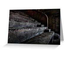 Abandoned theatre steps - architectual heritage Greeting Card