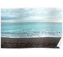 Beach at Loano (ligurian coast of Italy) Poster