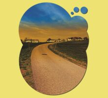A road, a village and a sunset | landscape photography Baby Tee