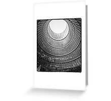 the house inside the cooling tower - industrial decay Greeting Card