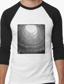 the house inside the cooling tower - industrial decay Men's Baseball ¾ T-Shirt