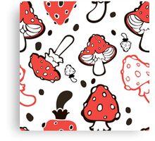 - Mushroom pattern - Canvas Print