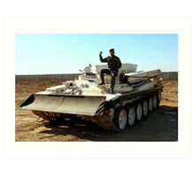 Iraqi Army Engineer Vehicle Art Print