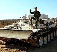Iraqi Army Engineer Vehicle by Charles Buchanan