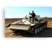 Iraqi Army Engineer Vehicle Canvas Print