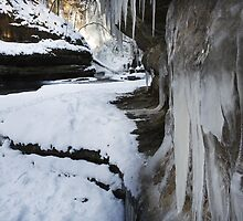Upper Dells Icicles by Adam Bykowski