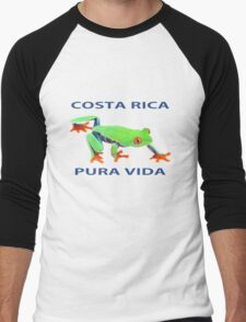 Red eyed tree frog Costa Rica Men's Baseball ¾ T-Shirt