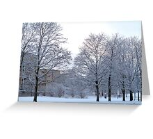 Wintery Suburbia Greeting Card