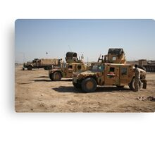 Iraqi Army HMMWVs Canvas Print