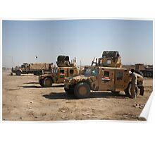 Iraqi Army HMMWVs Poster