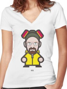 Breaking Bad Icon Set - W.W. Women's Fitted V-Neck T-Shirt