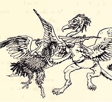 The Zankiwank & the Bletherwitch by Shafto Justin Adair Fitz Gerald art Arthur Rackham 1896 0188 Griffin and Phoenix by wetdryvac