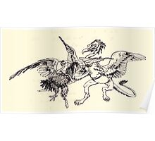 The Zankiwank & the Bletherwitch by Shafto Justin Adair Fitz Gerald art Arthur Rackham 1896 0188 Griffin and Phoenix Poster