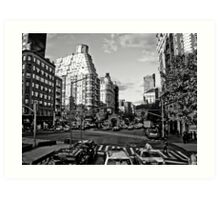 Intersection B&W Art Print