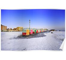 wintry seafront Poster