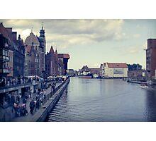 Motlawa river, Gdansk Photographic Print