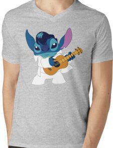 Elvis Stitch Mens V-Neck T-Shirt