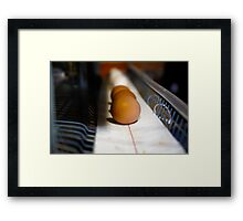 Brown and White Eggs Framed Print