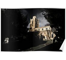 Churchyard shadows Poster
