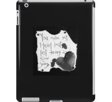 Heart Beat B&W  iPad Case/Skin
