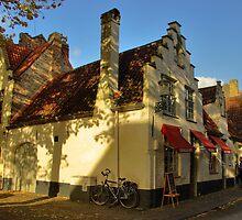 Brugge Street Scene by Béla Török