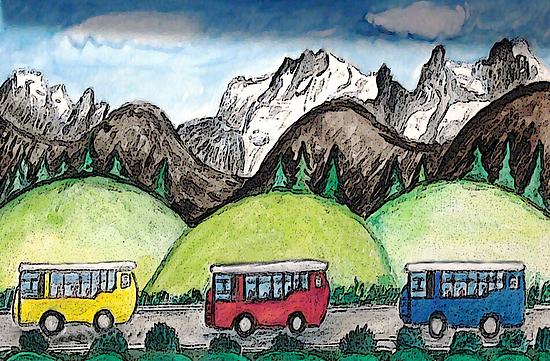 Mountain Travel by Monica Engeler