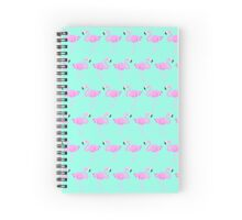 Pink Flamingo Pattern Spiral Notebook