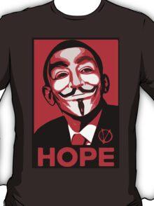 V for Vendetta, Anonymous Mask Obama Sign, HOPE T-Shirt