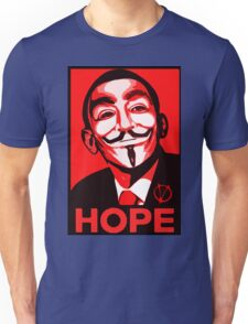 V for Vendetta, Anonymous Mask Obama Sign, HOPE Unisex T-Shirt