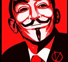 V for Vendetta, Anonymous Mask Obama Sign, HOPE by tshirtdesign