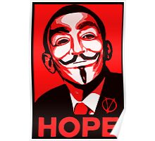 V for Vendetta, Anonymous Mask Obama Sign, HOPE Poster