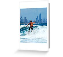 AUSTRALIA SURF Greeting Card