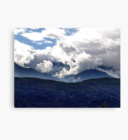 Coast Mountains and Clouds Canvas Print