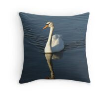 Swan, Mudeford Dorset Throw Pillow