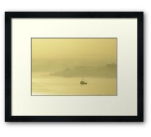 Morning mist, Cork Harbour Framed Print