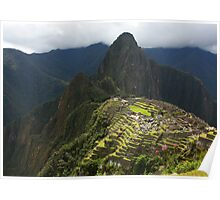 Terraces Of Machu Picchu Under The Sun Poster