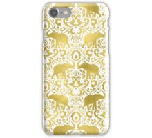 Elephant DamaskGold iPhone Case/Skin