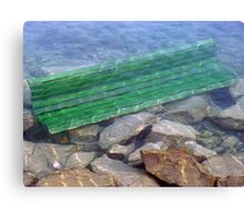 diving bench Canvas Print