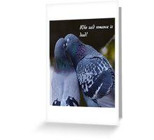 Pigeons Kissing Greeting Card