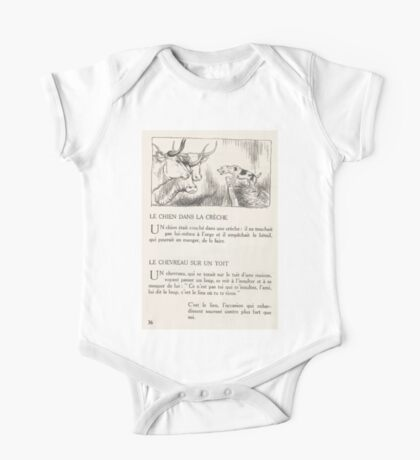 Aesop's Fables art by Arthur Rackham 1913 0073 The Dog and the Cows One Piece - Short Sleeve