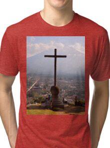 an awe-inspiring Guatemala landscape Tri-blend T-Shirt