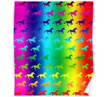 Psychedelic Unicorn Pattern Poster