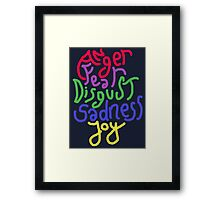 Anger, Fear, Disgust, Sadness, Joy! Framed Print